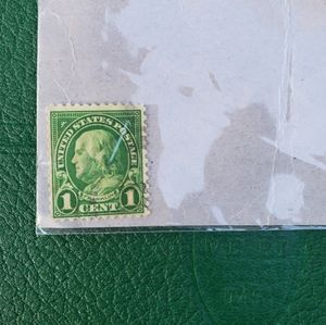 1 Cent Benjamin Franklin Stamp **RARE**